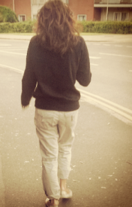 Me walking away from social media into the land where apparently a hairbrush didn't exist. Frightening stuff.